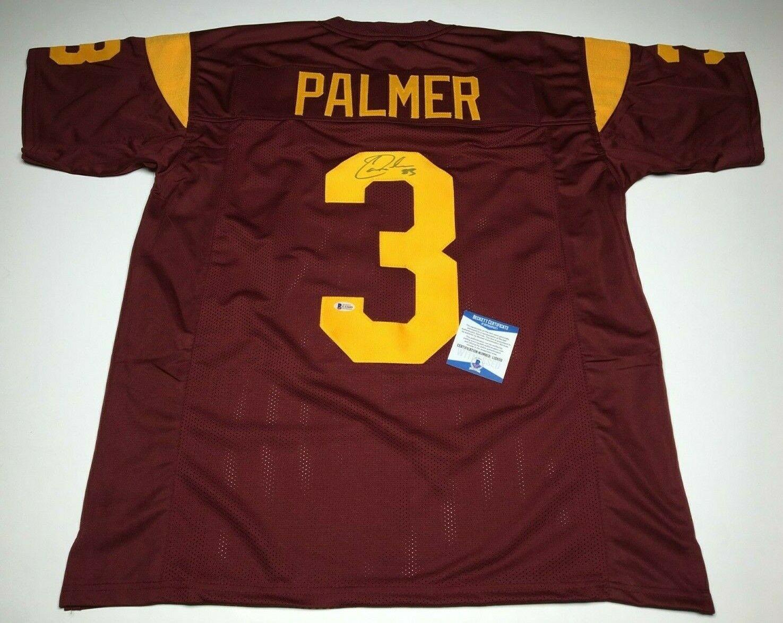 Carson Palmer Signed USC Trojans Football Jersey *Heisman BAS L12609