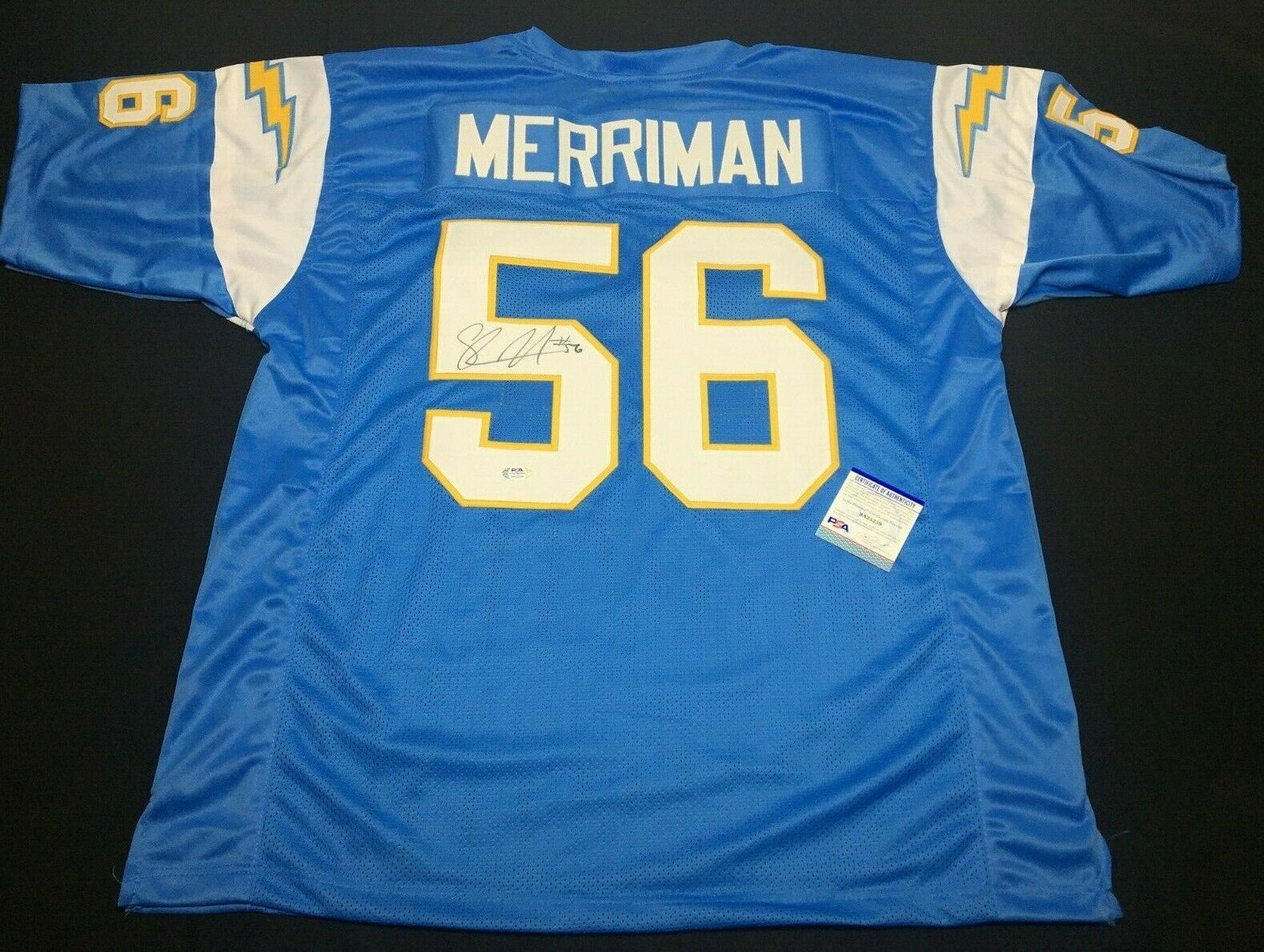 Shawne Merriman Signed San Diego Chargers Jersey PSA 9A25239