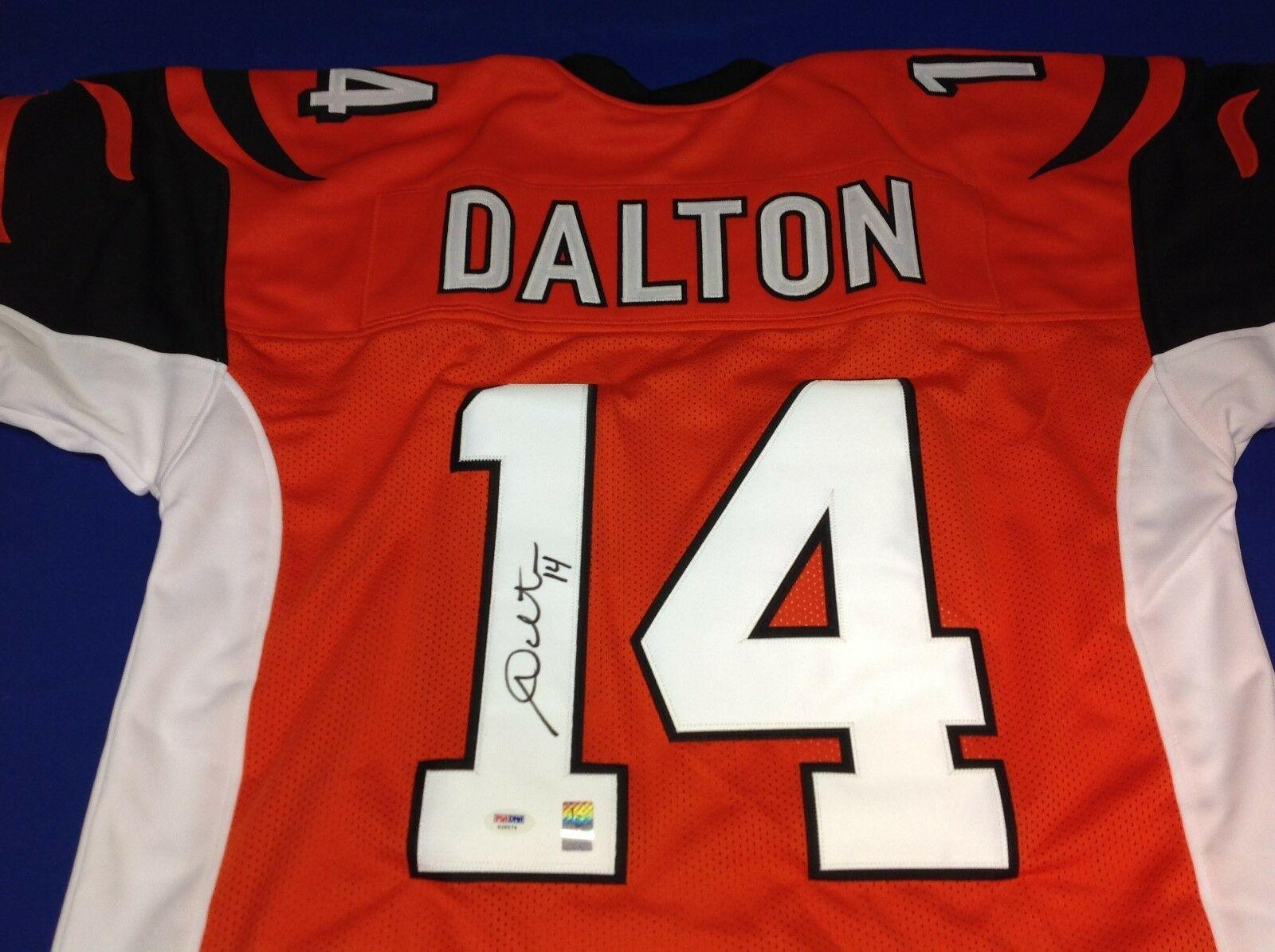Andy Dalton Signed Cincinnati Bengals Football Jersey PSA/DNA X28576