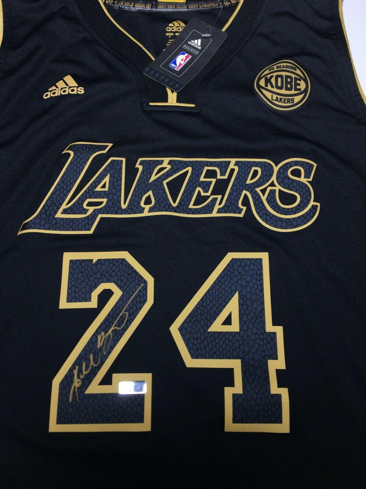 Kobe Bryant Signed Black Mamba Adidas Final Game Basketball Jersey Panini
